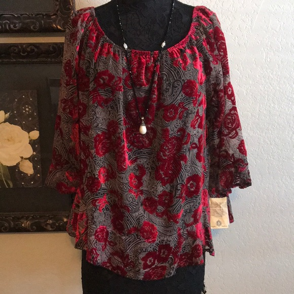 Democracy Tops Plus Size Dressy Evening Special Event Blouse